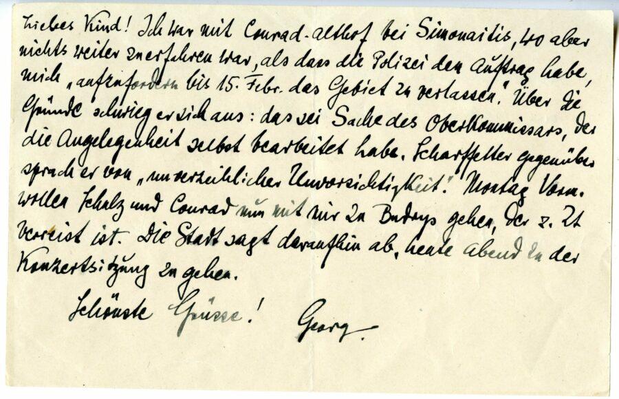 Georg Kemp laiškas
